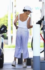 VANESSA HUDGENS at a Gas Station in Los Angeles 07/17/2019