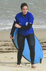 VICKY PATTISON Learns to Surf at Bondi Beach in Sydney 06/25/2019