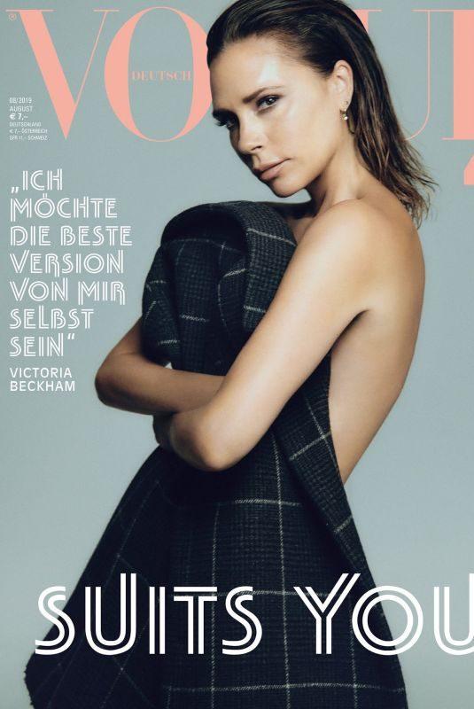 VICTORIA BECKHAM for Vogue Magazine, Germany August 2019