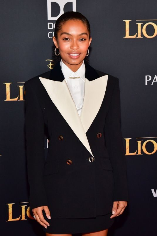 YARA SHAHIDI at The Lion King Premiere in Hollywood 07/09/2019