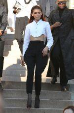 ZENDAYA at Giorgio Armani Prive Haute Couture Show at Paris Fashion Week 07/02/2019