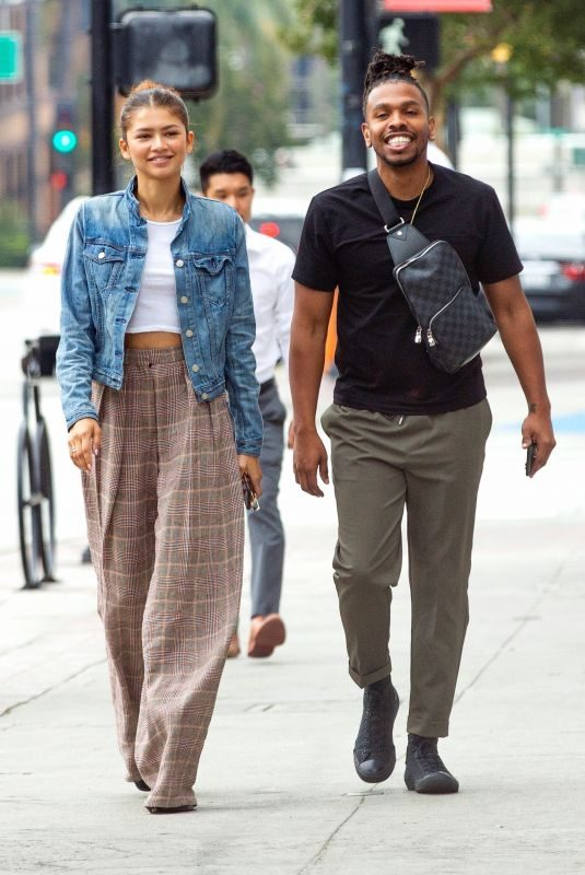 ZENDAYA COLEMAN Out for Lunch with Her Brother Austin in Burbank 07/25/2019