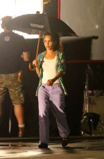 ZOE KRAVITZ on the Set of High Fidelity in New York 07/11/2019