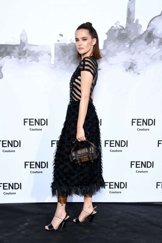 ZOEY DEUTCH at Fendi Couture Cocktail in Rome 07/04/2019