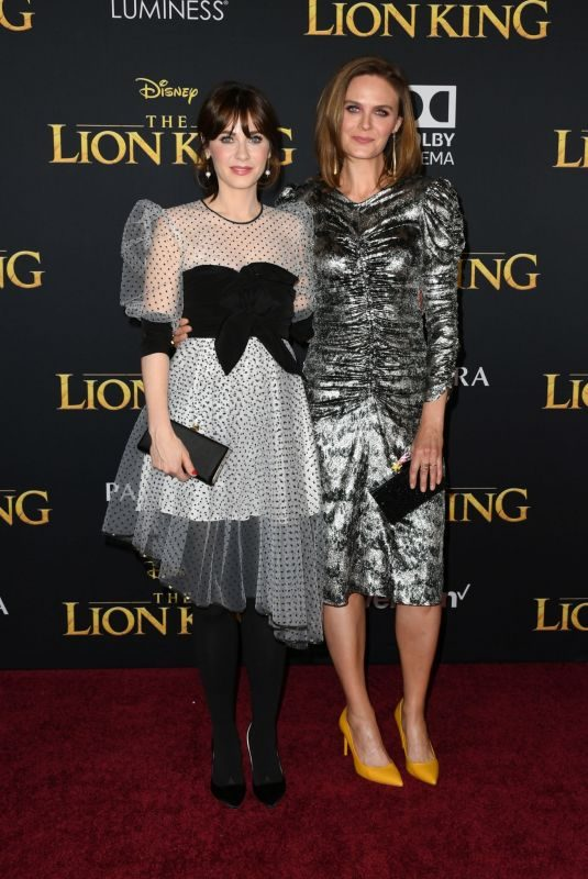 ZOOEY and EMILY DESCHANEL at The Lion King Premiere in Hollywood 07/09/2019