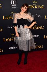 ZOOEY DESCHANEL at The Lion King Premiere in Hollywood 07/09/2019
