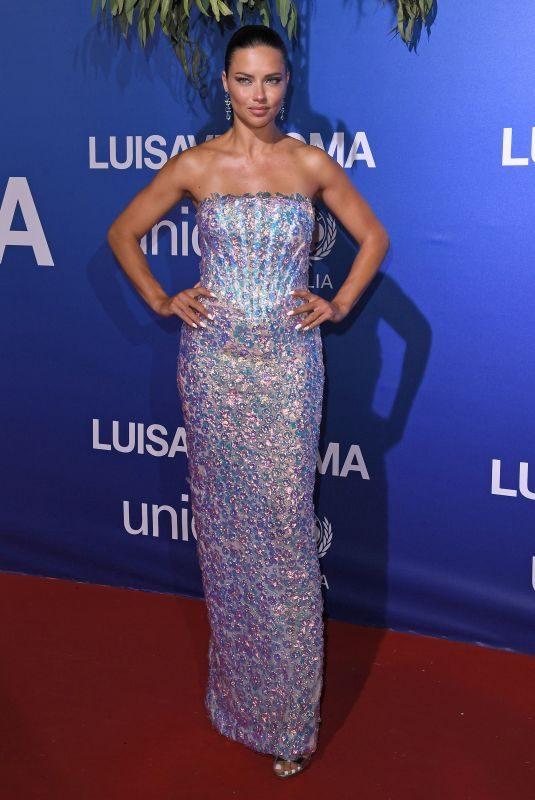 ADRIANA LIMA at Unicef Summer Gala in Porto Cervo 08/09/2019