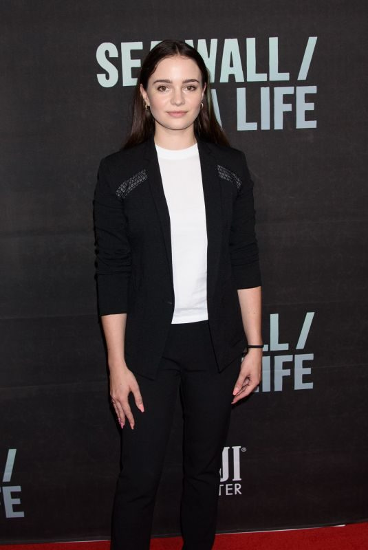 AISLING FRANCIOSI at Fiji Water at Sea Wall / A Life Opening Night on Broadway in New York 08/08/2019