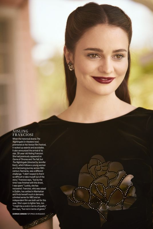 AISLING FRANCIOSI in Town & Country, September 2019
