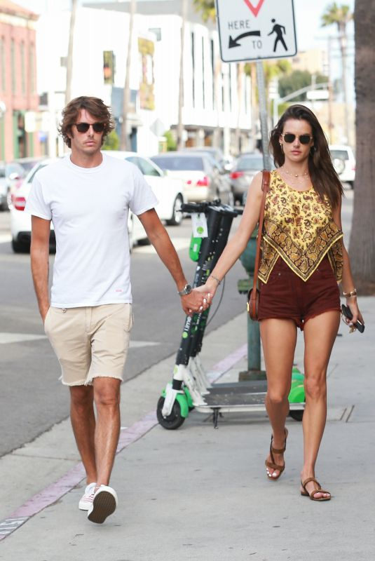 ALESSANDRA AMBROSIO and Nicolo Oddi Out in Los Angeles 08/16/2019