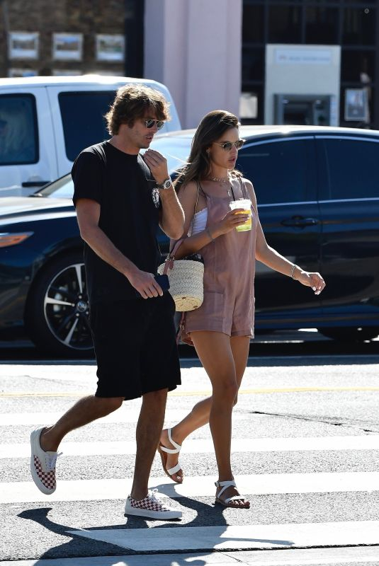 ALESSANDRA AMBROSIO and Nicolo Oddi Out Shopping in Beverly HIlls 08/21/2019