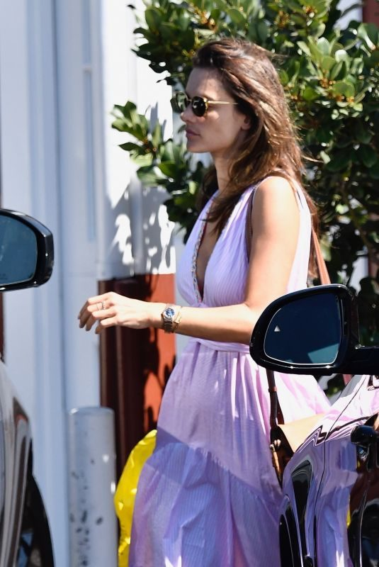 ALESSANDRA AMBROSIO at Brentwood Country Mart in Los Angeles 08/13/2019