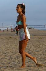 ALESSANDRA AMBROSIO in Bikini Top ata Beach in Santa Monica 08/05/2019