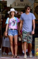 ALESSANDRA AMBROSIO Out Shopping in Malibu 08/07/2019