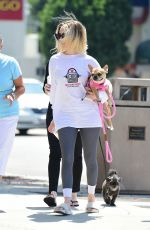 ALESSANDRA TORRESANI Out with Her Dog in Studio City 08/08/2019