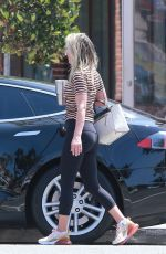 ALI LARTER Leaves Tracy Anderson Gym in Brentwood 08/22/2019