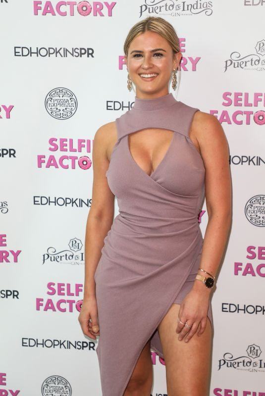 ALICIA OATES at Media Night at Selfie Factory in London 07/31/2019