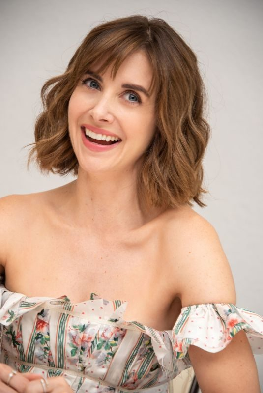 ALSON BRIE at Glow Press Conference in Beverlty Hills 08/06/2019