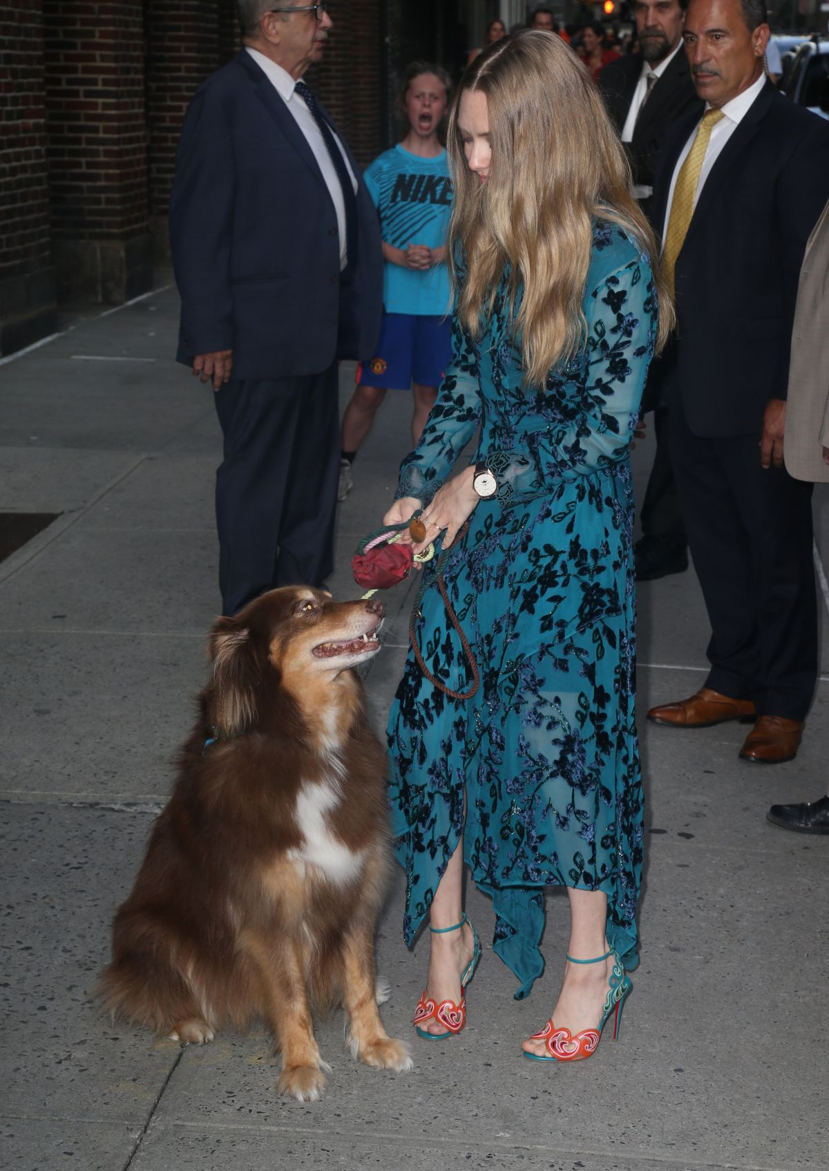 AMANDA SEYFRIED Arrives at Late Show with Stephen Colbert in