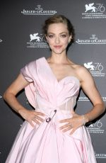 AMANDA SEYFRIED at Jaeger-Lecoultre Gala Dinner at Venice Film Festival 08/30/2019