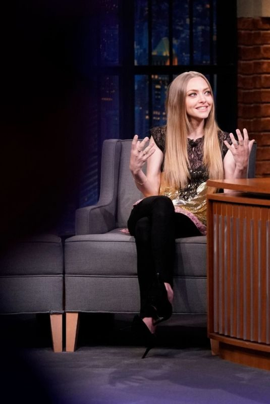AMANDA SEYFRIED at Late Night with Seth Meyers in New York 08/07/2019