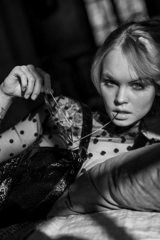 ANASTASIYA SCHEGLOVA on the Set of a Photoshoot, May 2019