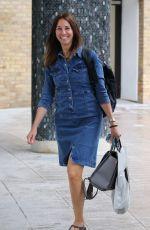 ANDREA MCLEAN in Denim Dress Arrives at ITV Studio 08/05/019