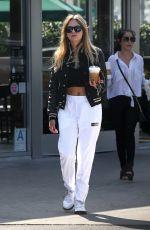 ASHLEY BENSON Leaves Starbucks in West Hollywood 08/08/2019