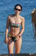 AURORA RAMAZZOTTI in Bikini on the Beach in Mykonos 08/02/2019