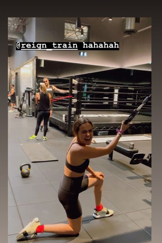 BAILEE MADISON Working Out at a Gym – Instagram Photo and Video 08/16/2019