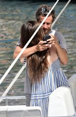 BEE SHAFFER Out on Holiday in Portofino 08/22/2019