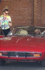 BEHATI PRINSLOO and Adam Levine Shopping Vintage Car in Los Angeles 08/15/2019