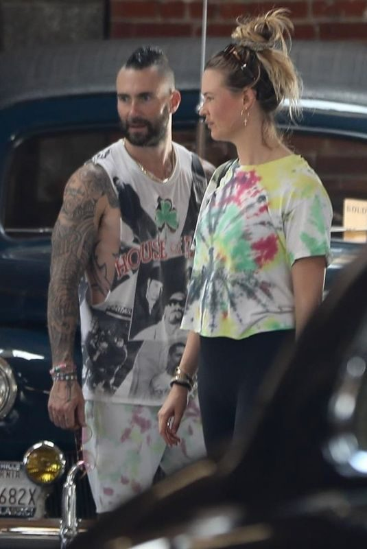 BEHATI PRINSLOO and Adam Levine Shopping Vintage Car in Los Angeles 08/15/2019