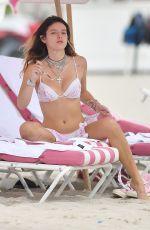 BELLA THORNE in Bikini at a Beach in Miami 08/07/2019