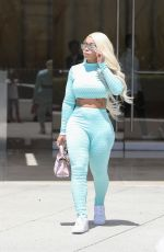 BLAC CHYNA in Tights Out and About in Beverly Hills 08/20/2019
