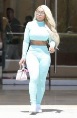 BLAC CHYNA in Tights out in Beverly Hills 08/20/2019
