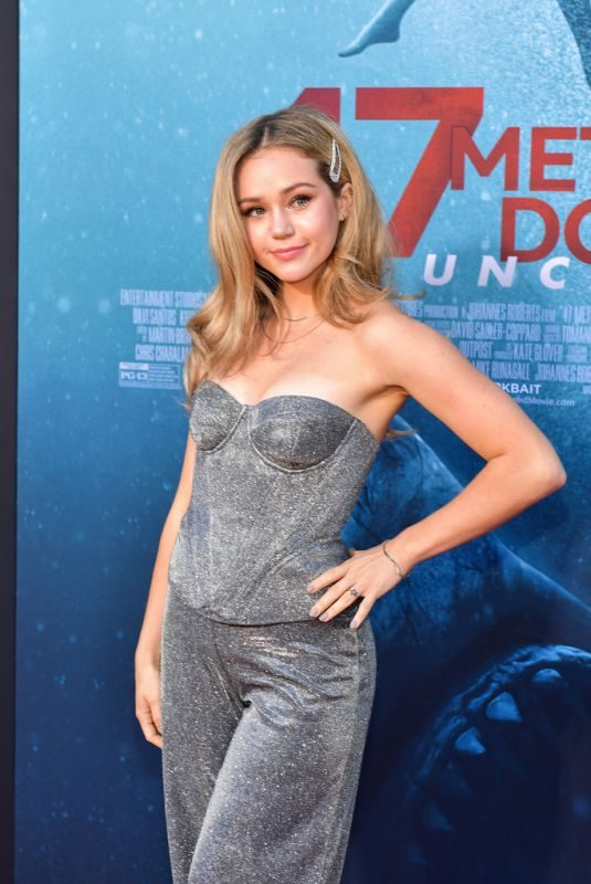 BREC BASSINGER at 47 Meters Down Uncaged Premiere in Westwood 08/13/2019