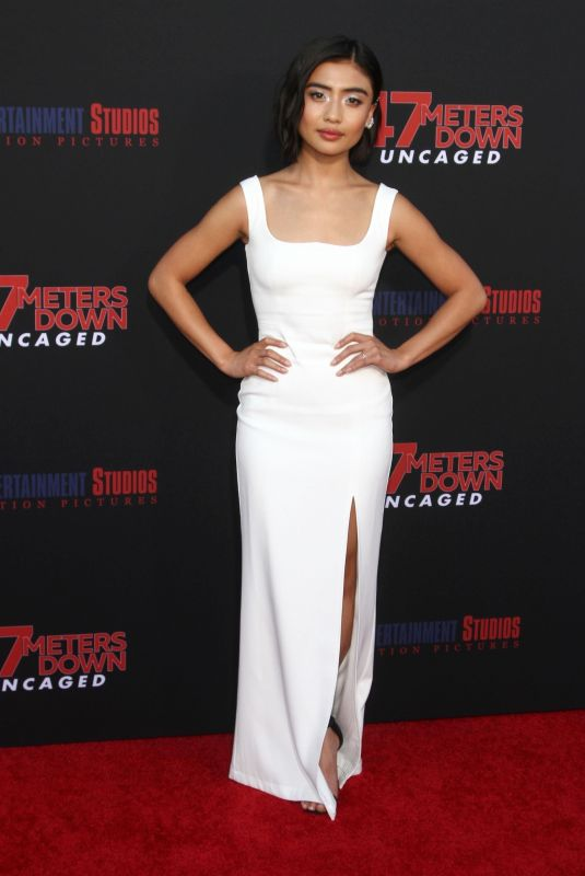 BRIANNE TJU at 47 Meters Down Uncaged Premiere in Westwood 08/13/2019