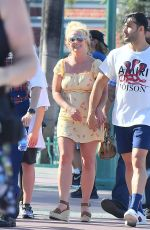 BRITNEY SPEARS Out at Disneyland 08/04/2019