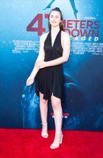 BROOKE BUTLER at 47 Meters Down: Uncaged Premiere in Los Angeles 08/13/2019