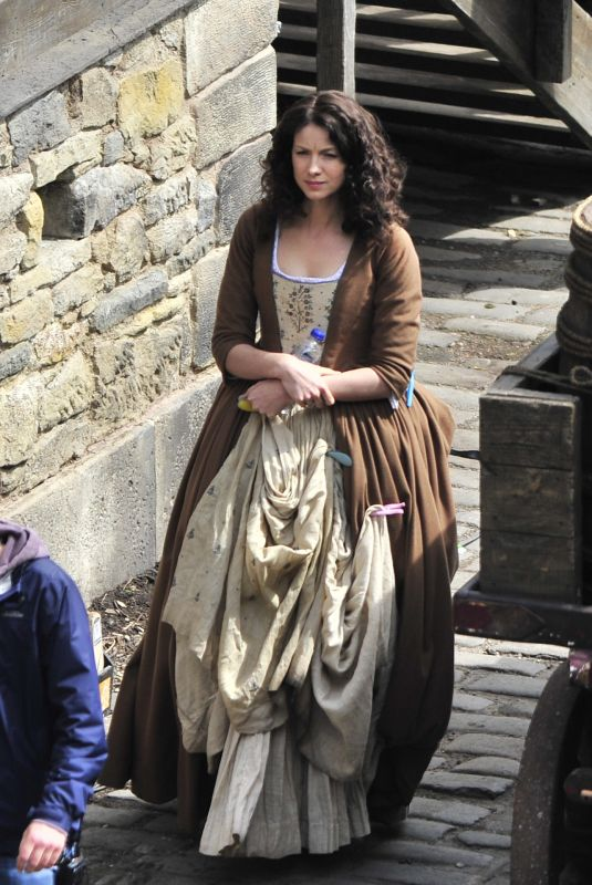 CAITRIONA BALFE on the Set of Outlander in Fife 06/02/2019