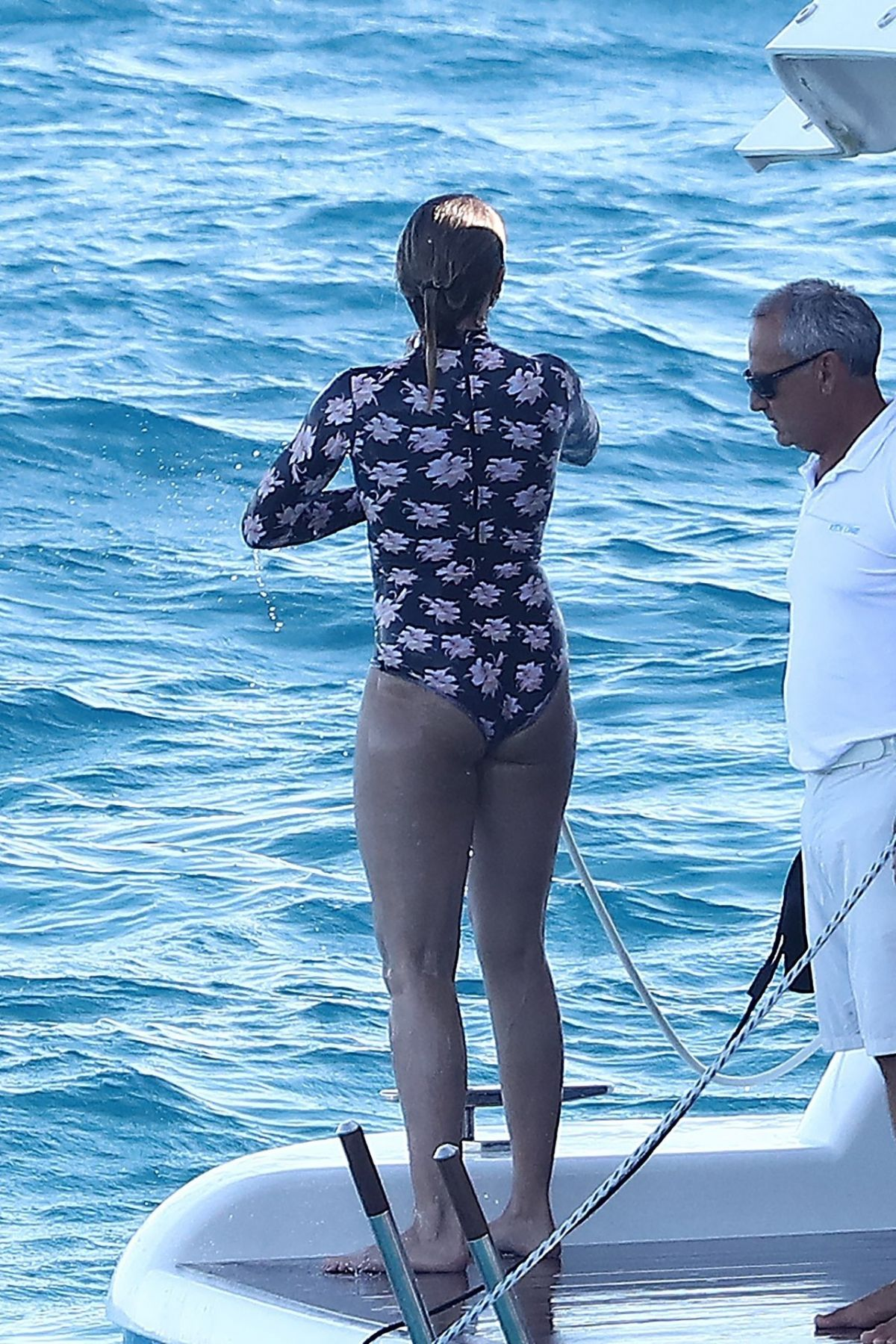 CAMERON DIAZ in Swimsuit at a Yacht in Saint Tropez 08/08 ...Cameron Diaz Pregnant 2020