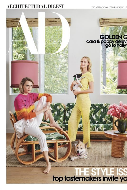 CARA and POPPY DELEVINGNE in Architectural Digest Magazine, September 2019