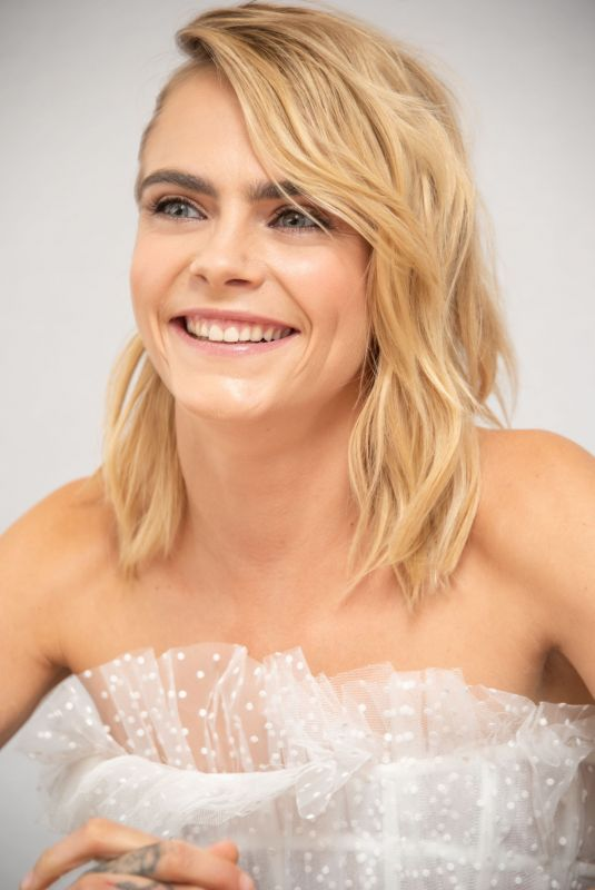CARA DELEVINGNE at Carnival Row Press Conference in Beverly Hills 08/22/2019