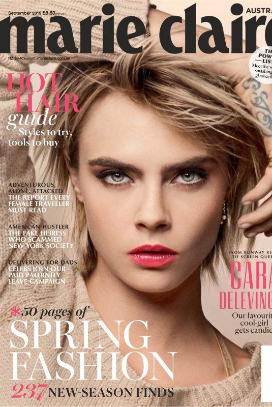 CARA DELEVINGNE in Marie Claire Magazine, Australia September 2019