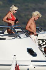 CAROLINIE VREELAND in Bikini at a Yacht in Porto Cervo 08/11/2019