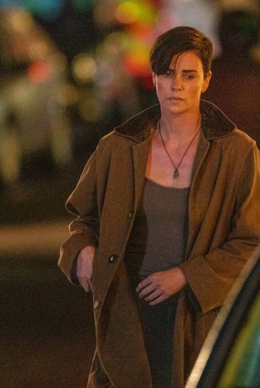 CHARLIZE THERON on the Set of The Old Guard in Sandwich 07/27/2019