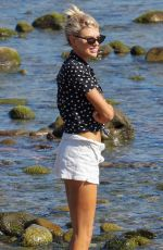 CHARLOTTE MCKINNEY on the Beach in Malibu 08/18/2019