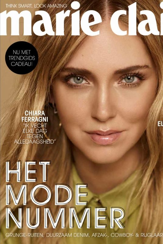 CHIARA FERRAGNI in Marie Claire Magazine, Netherlands September 2019