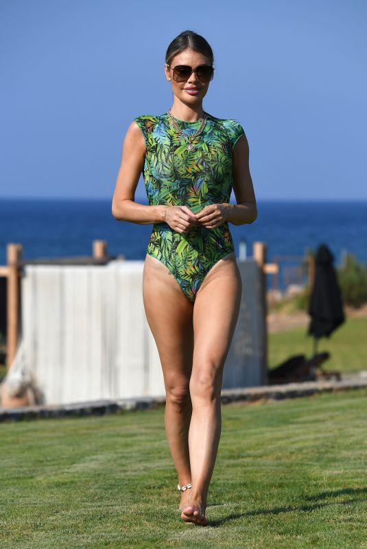 CHLOE SIMS in Swimsuit Filmin Celebs Go Dating in Crete 08/04/2019